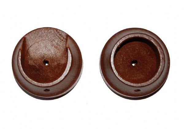 Rolls Woodline 35mm Wooden Recess Brackets (Pair) - Rosewood
